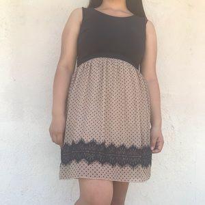 Black & Beige dress